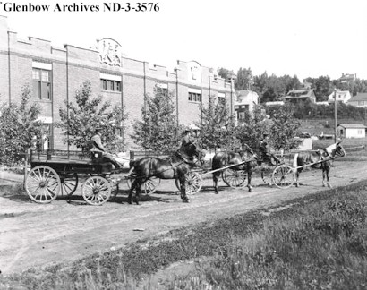 HBC horse drawn delivery trucks